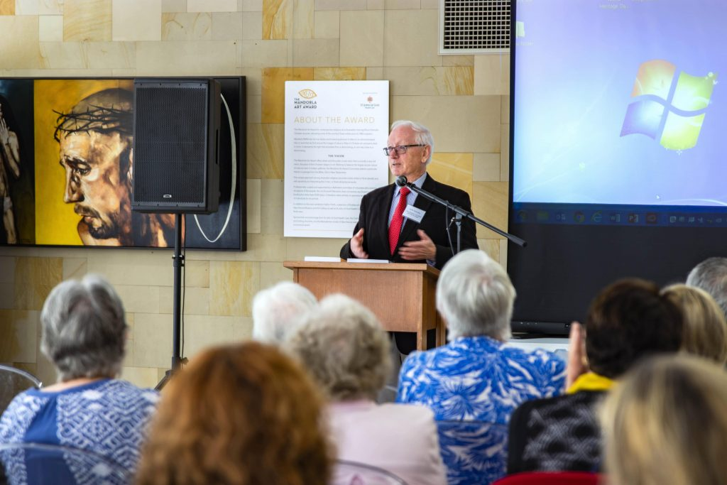 "Professor Kilda delivered a lecture ""Absence or Amnesia, Was the Golden West really free from 'the noxious weed of sectarianism' that blighted early twentieth-century Australia?"" on 18 April at the St Mary's Cathedral. Photo: Amanda Murthy."