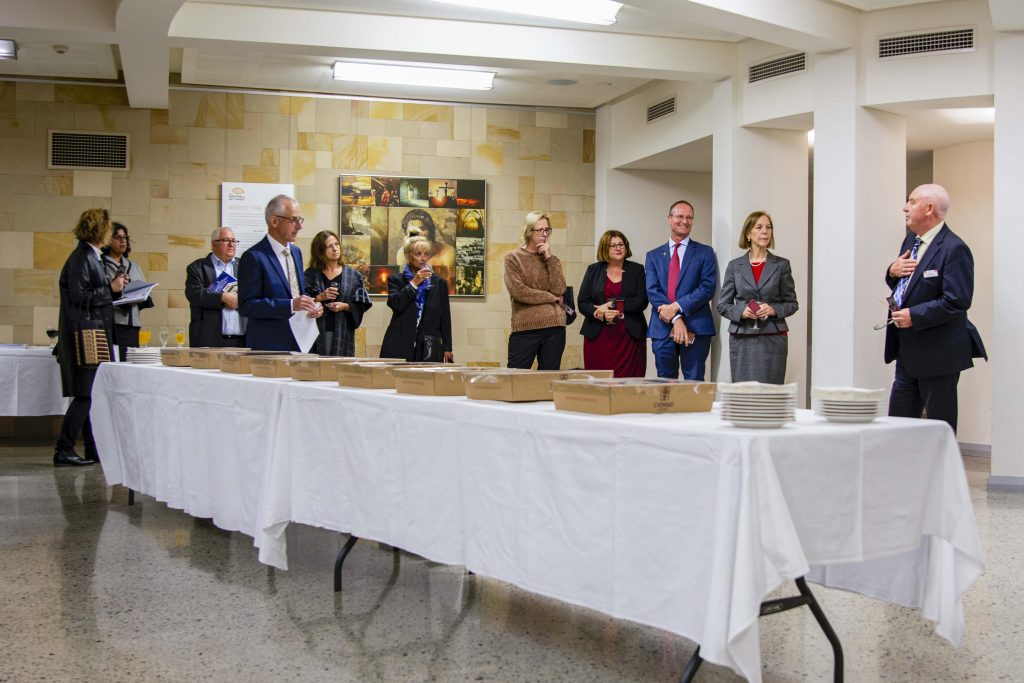 Several Archdiocesan agency directors and representatives from across the Archdiocese have last week Thursday 16 May come together for the launch of the Poverty, Homelessness and Migrants in Western Australia Report. Photo: Eric Martin.