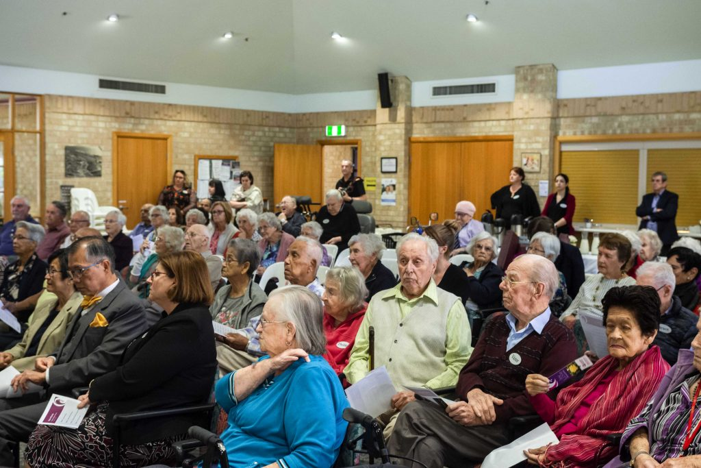 Some 80 people gathered to celebrate the 20th anniversary of the aged care facility. Photo: Olivia Bunter.