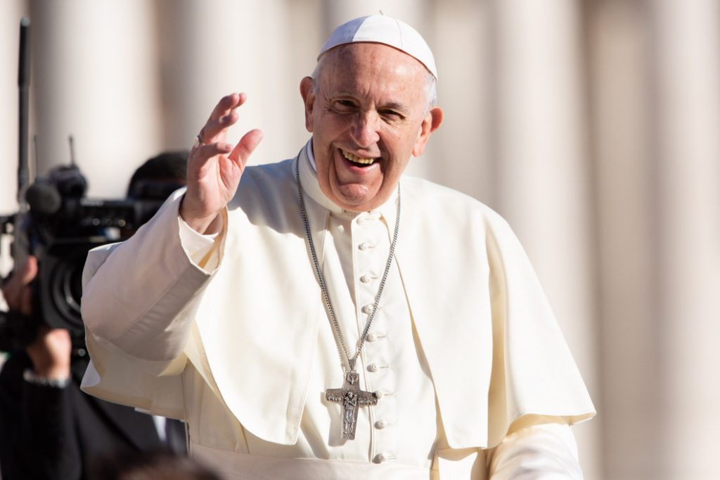"""In part three of his catechesis on the Lord's Prayer, Pope Francis pointed to the line where we ask God to """"give us our daily bread"""". Photo: CNA."""