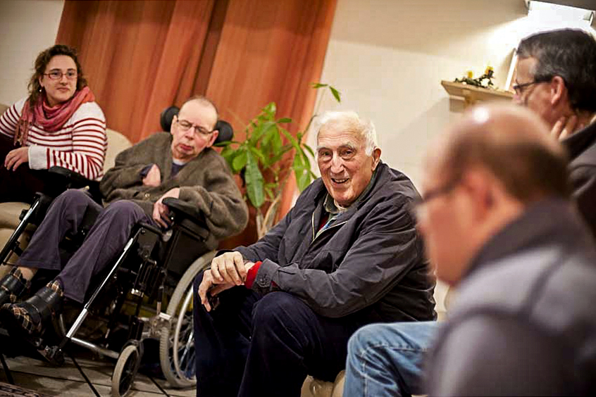 Jean Vanier was the founder of L'Arche; an international community of individuals with intellectual disabilities. Photo: CNS.