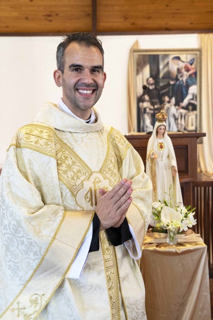 The newly ordained Fr Christopher de Sousa CRS. Photo: Josh Low.