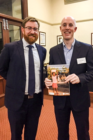 UNDA Campus Ministry Manager and Caritas Advisory Committee Member Tom Gourlay and Perth Archdiocese Archivist Odhran O'Brien. Photo: Supplied.