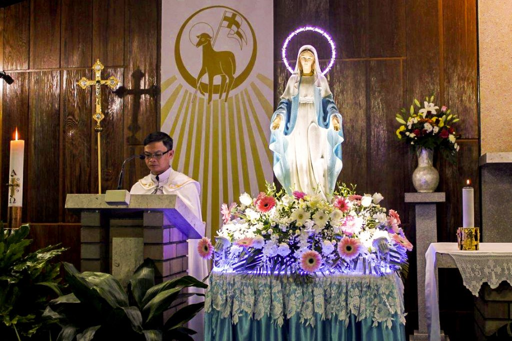 Cloverdale Parish Priest Fr Michael Quynh Do led in the celebrations on 11 May. Photo: Sunil Rodrigues.