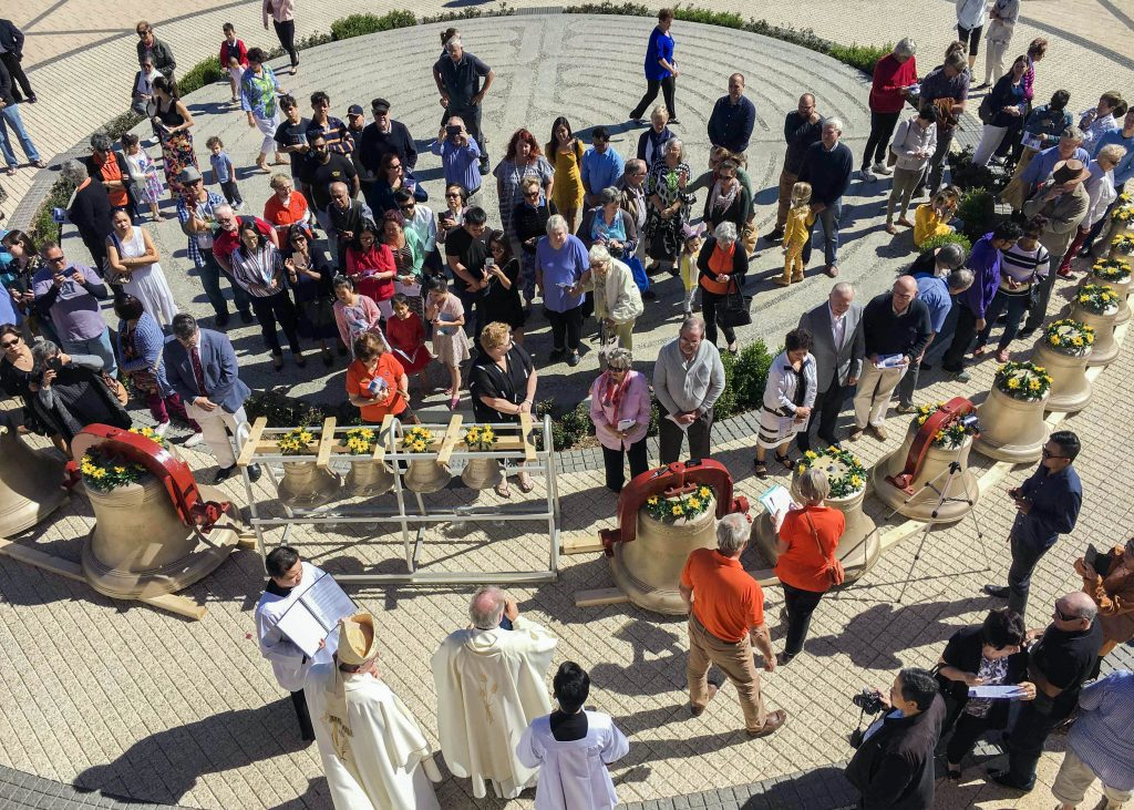 Many parishioners turned out for the blessing of the bells. Photo: Supplied.