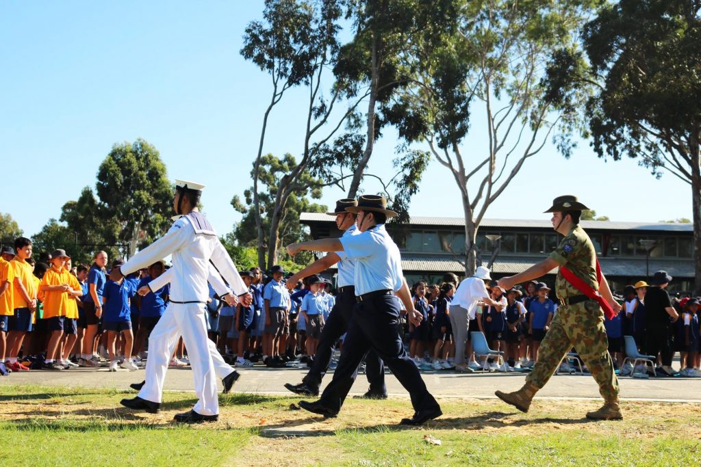 Anzac Day was observed at Mercy College on 25 April. Photo: Supplied.