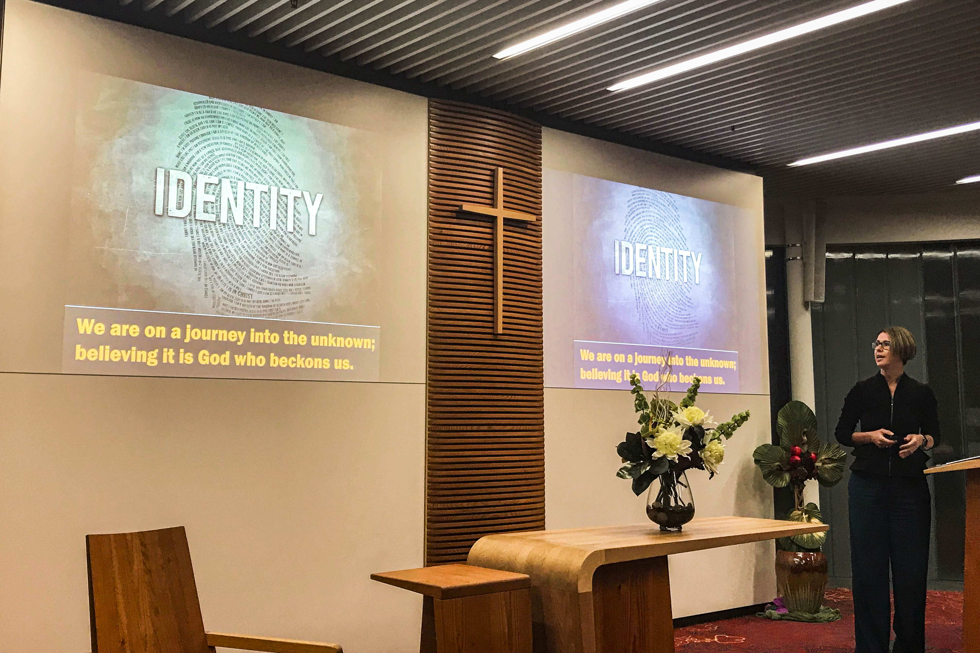 Delegates from the Perth Catholic Interagency Mission Network came together recently to hear Tara Peters from SJOG Health Care talk about Catholic identity. Photo: Supplied.