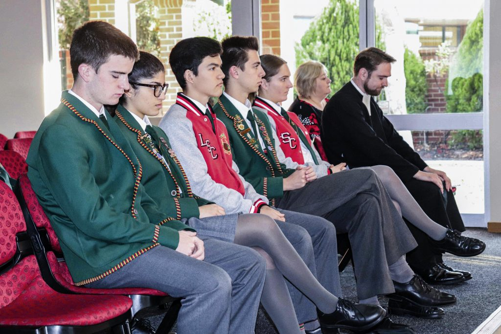 La Salle College's 2019 Principal's Community Prayer Breakfast featured guest speaker Br Lewis Harwood on 14 May. Photo: Supplied.