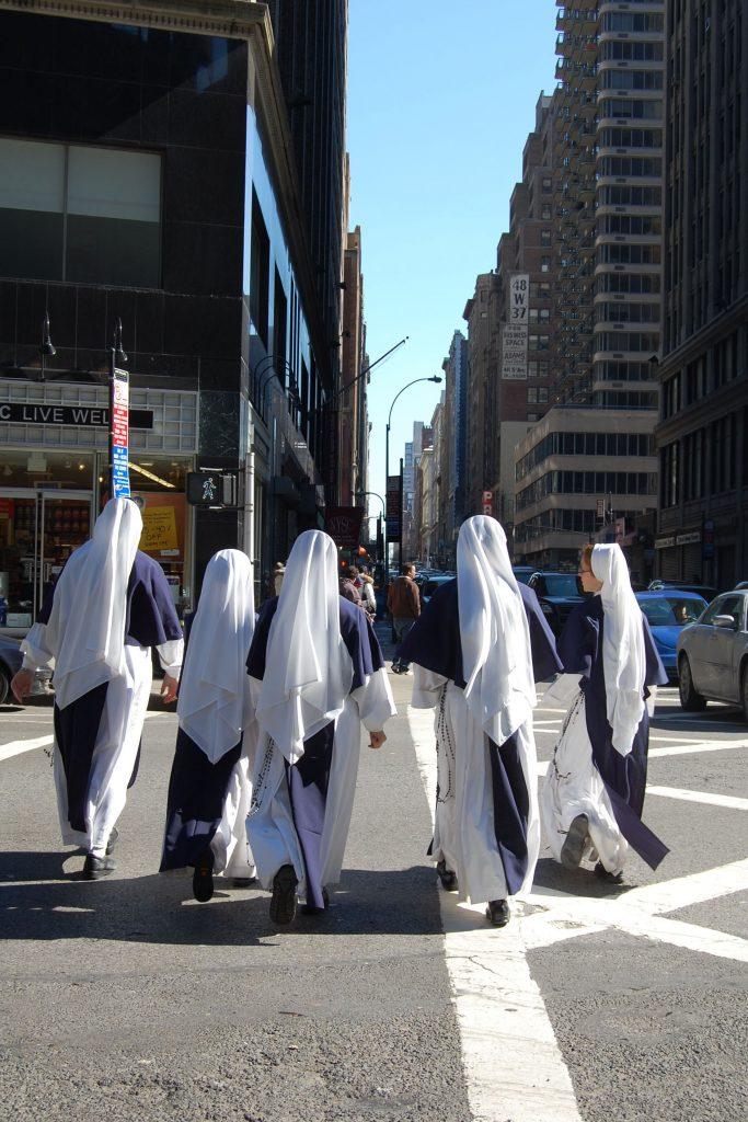 Sisters of Life walking on the streets of Manhattan, New York. Photo: Sourced.