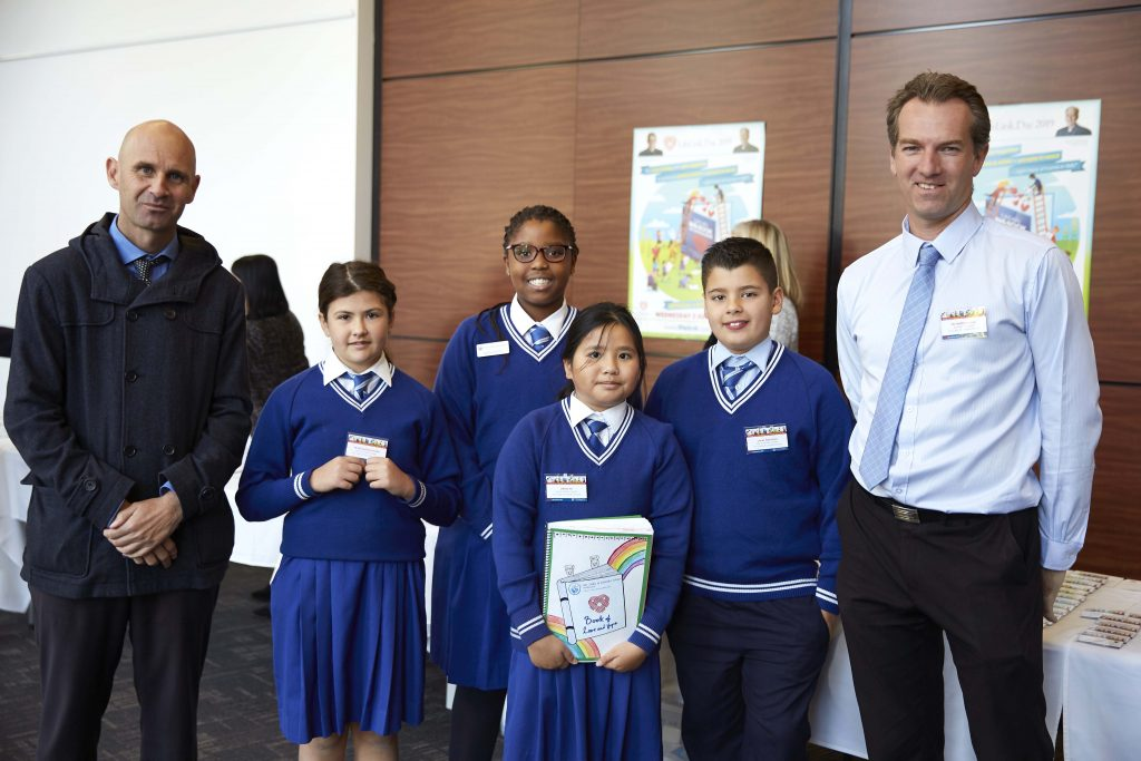 Student representatives and their teachers from some 75 Archdiocesan Catholic Primary Schools were able to join Archbishop Costelloe and LifeLink Chariman, Bishop Don Sproxton at Newman College for the launch. Photo: Ron Tan.