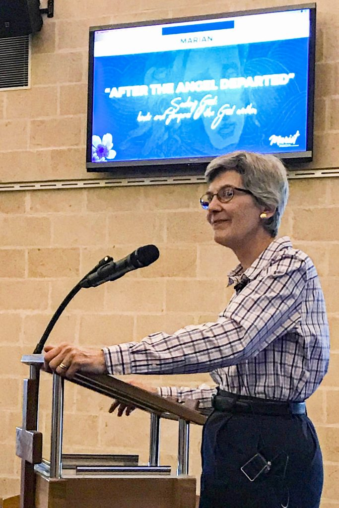 Dr Bonnie Thurston presents the second biennial Marian lecture, After the Angel departed – Seeking God: Hints and Glimpses of the God Within. Photo: Supplied.