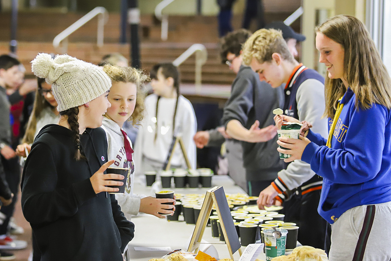 The evening of 13 June included a soup kitchen prepared by Year 12 students. Photo: Supplied.