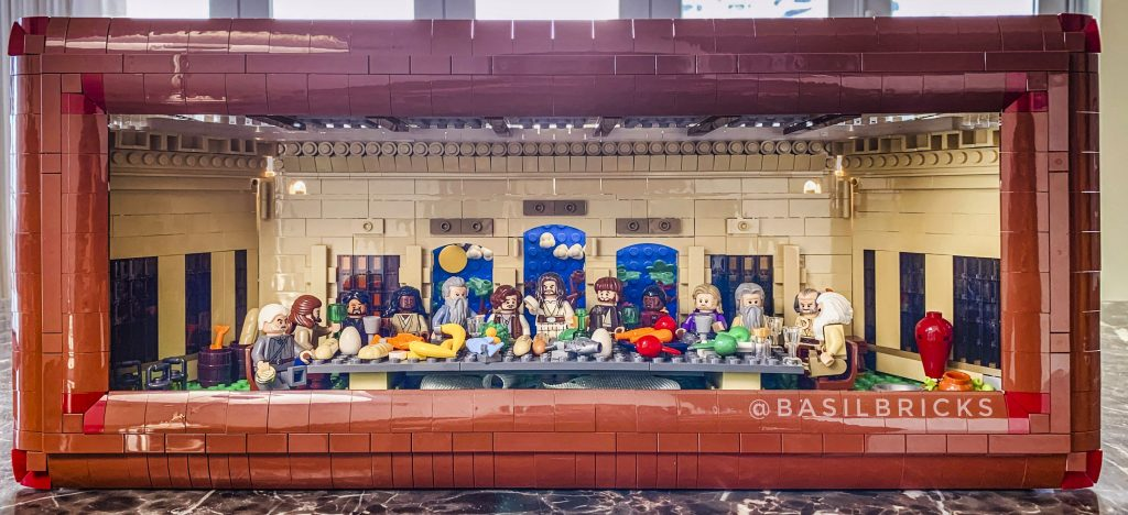 Another LEGO creation of David Lefort is his version of The Last Supper. Photo: David Lefort.