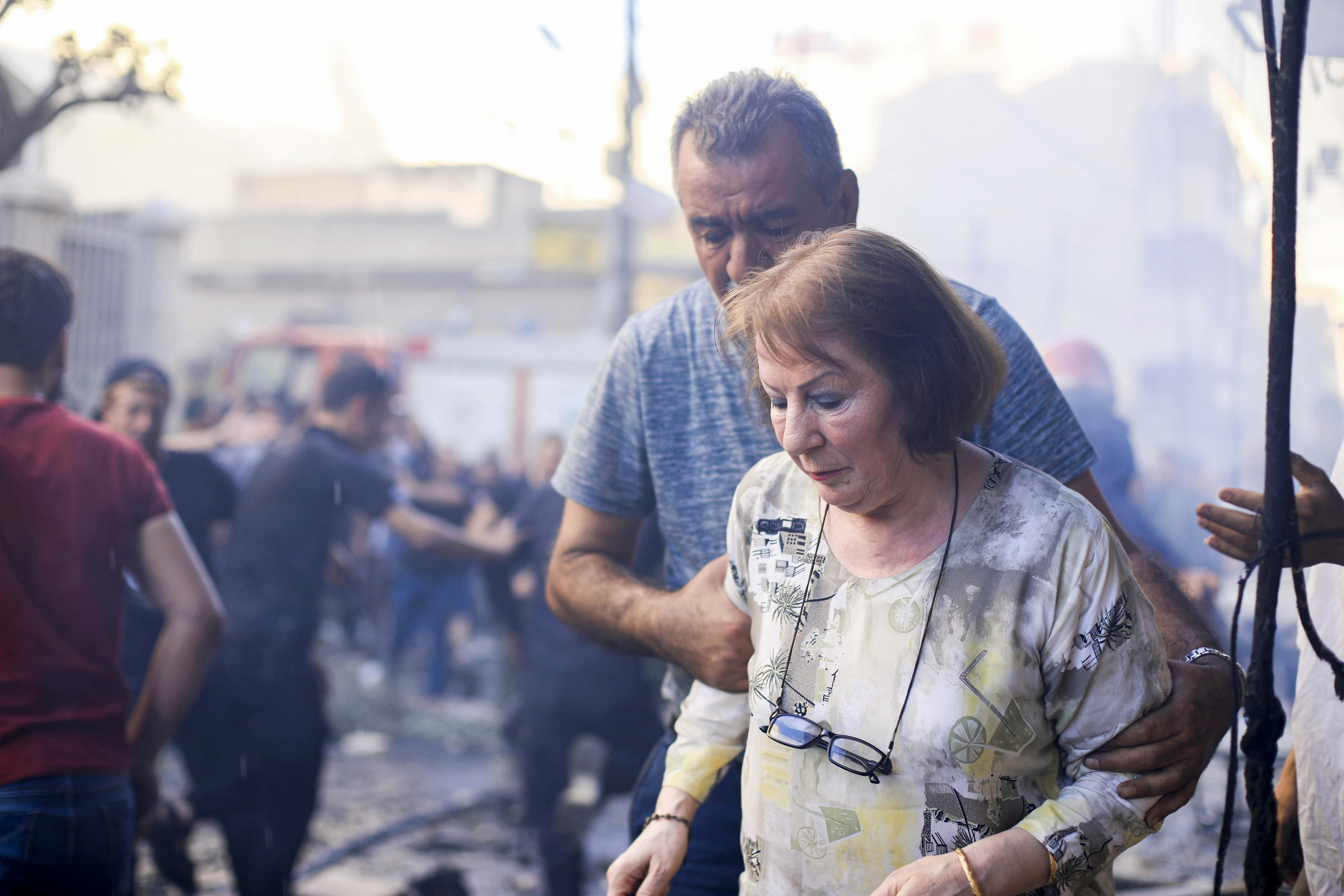 At least 11 people were injured in the blast during evening services. It was unclear who was responsible for the attack. Photo: Rodi Said/Reuters.