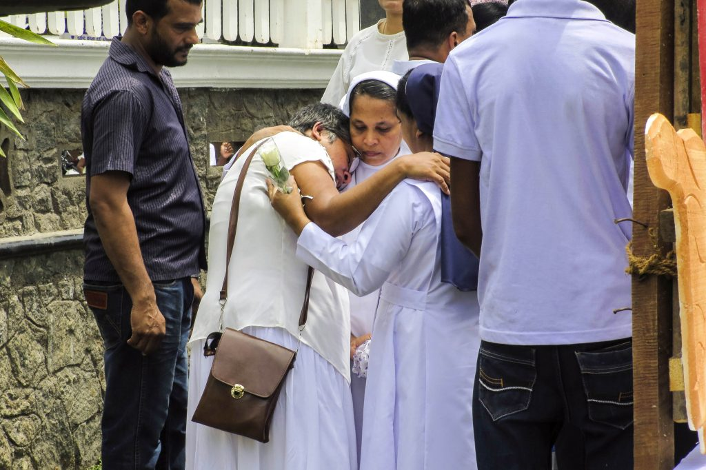 Christians in Sri Lanka are still fearful after a suicide bomber killed close to 100 people in a Church on 21 April. Photo: Bartek Zytkowiak/Aid to the Church in Need.