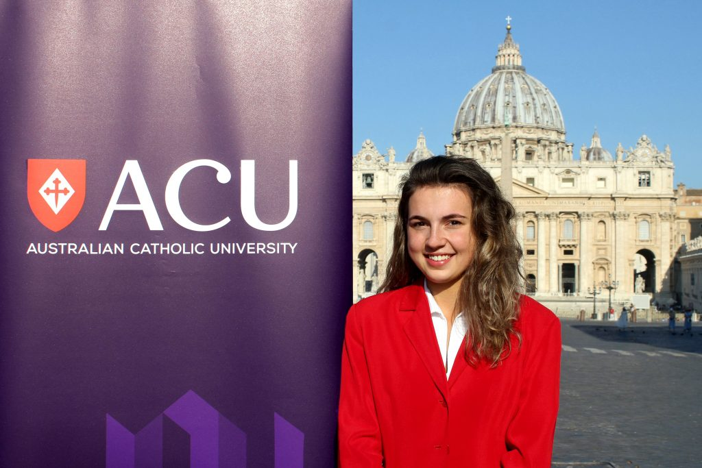 Calle Nicholls, the recipient of the 2019 Francis Xavier Conaci Scholarship. Photo: Supplied.