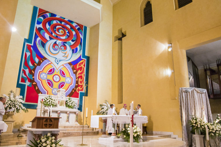 The Fremantle Icon in the Basilica of St Patrick was commissioned in 1994 for the Missionary Oblates Centenary Celebrations. Photo: Supplied.