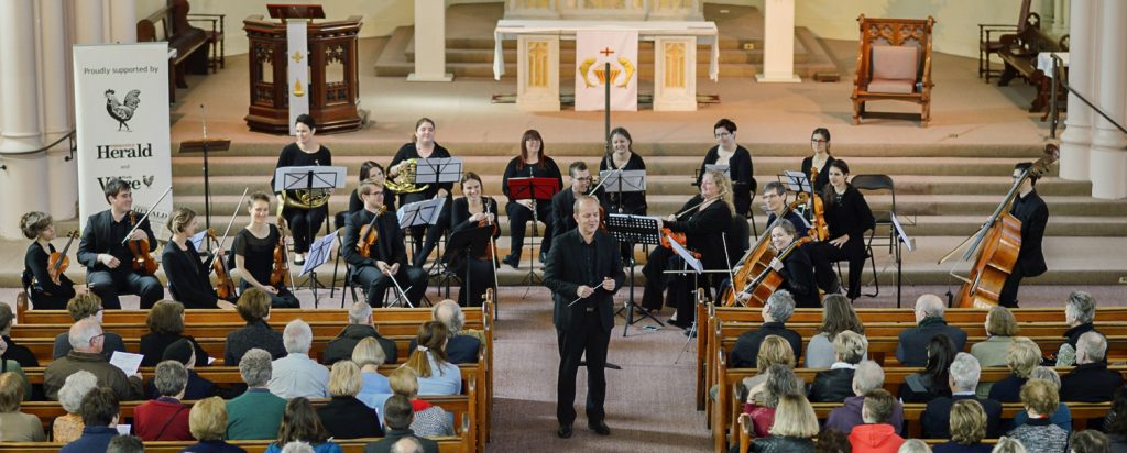 Fremantle Chamber Orchestra performing at the Redemptorist Monastry in 2016. Photo: Supplied.