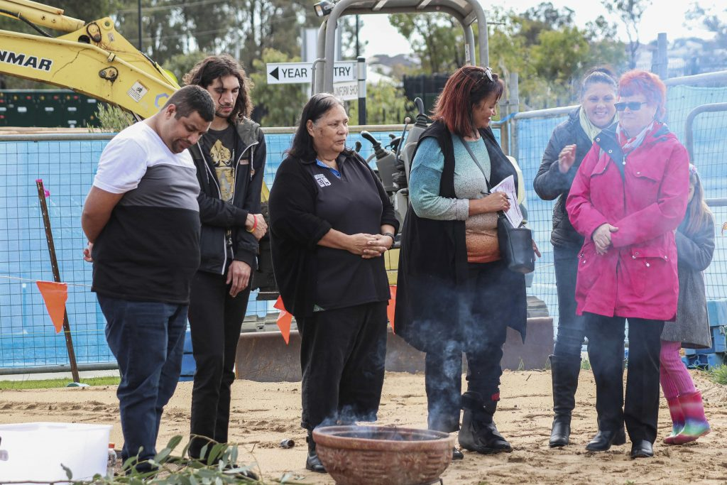 Baldivis Parish's Mother Theresa Catholic Church community celebrated the blessing of the Church foundation stone administered by Bishop Sproxton on 7 July. Photo: Supplied.