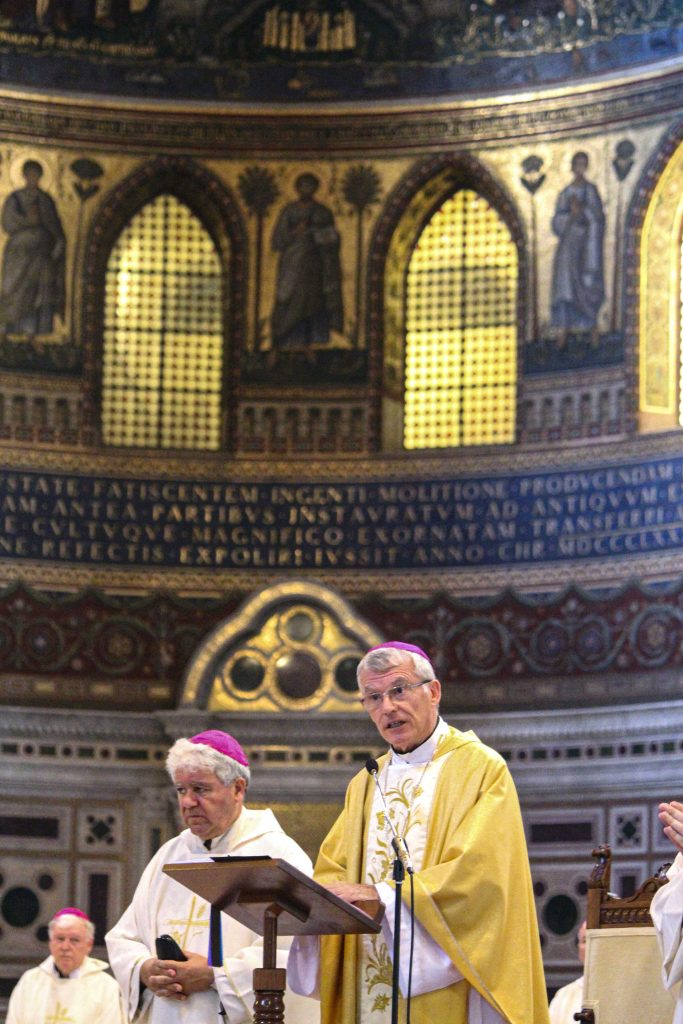 Archbishop Costelloe spoke about the challenges faced by the Church today during his homily at Mass for the Feast of the Most Sacred Heart of Jesus at the St Basilica of St John Lateran in Rome. Photo: Supplied.