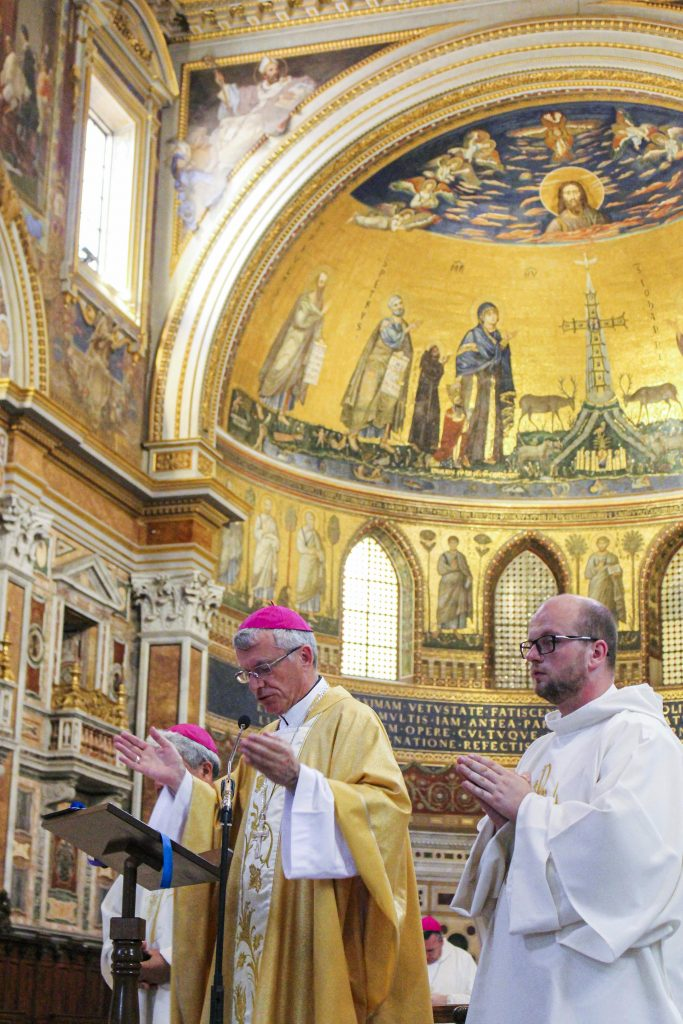 Archbishop Costelloe said that his hope is for the Church today to be given the courage as well as open hearts and minds during Mass for the Feast of the Most Sacred Heart of Jesus at the St Basilica of St John Lateran in Rome. Photo: Supplied.