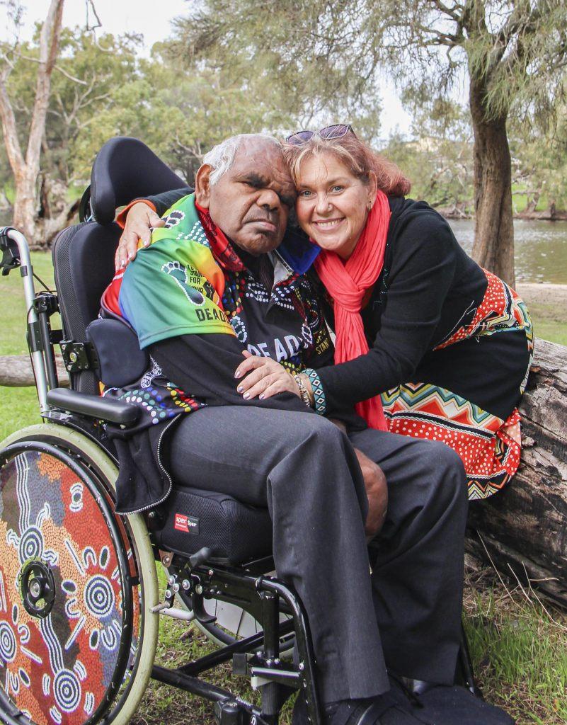 Terry pictured with Jenni Townson, his relative, advocate, and legal guardian. Photo: Identitywa.