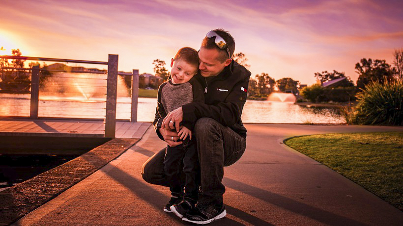 "Perth father Daniel Delgado has won the 2019 St John of God Raphael Services' ""Healthy Men, Healthy Minds"" photo competition. Photo: Supplied."