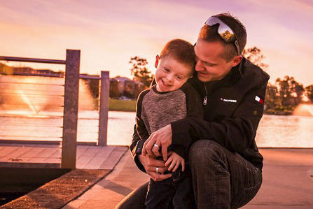 """Perth father Daniel Delgado has won the 2019 St John of God Raphael Services' """"Healthy Men, Healthy Minds"""" photo competition. Photo: Supplied."""