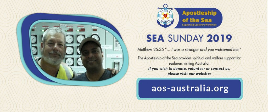 Sea Sunday is an important event that reminds all Catholics of the important work carried out by the agency. Photo: Supplied.