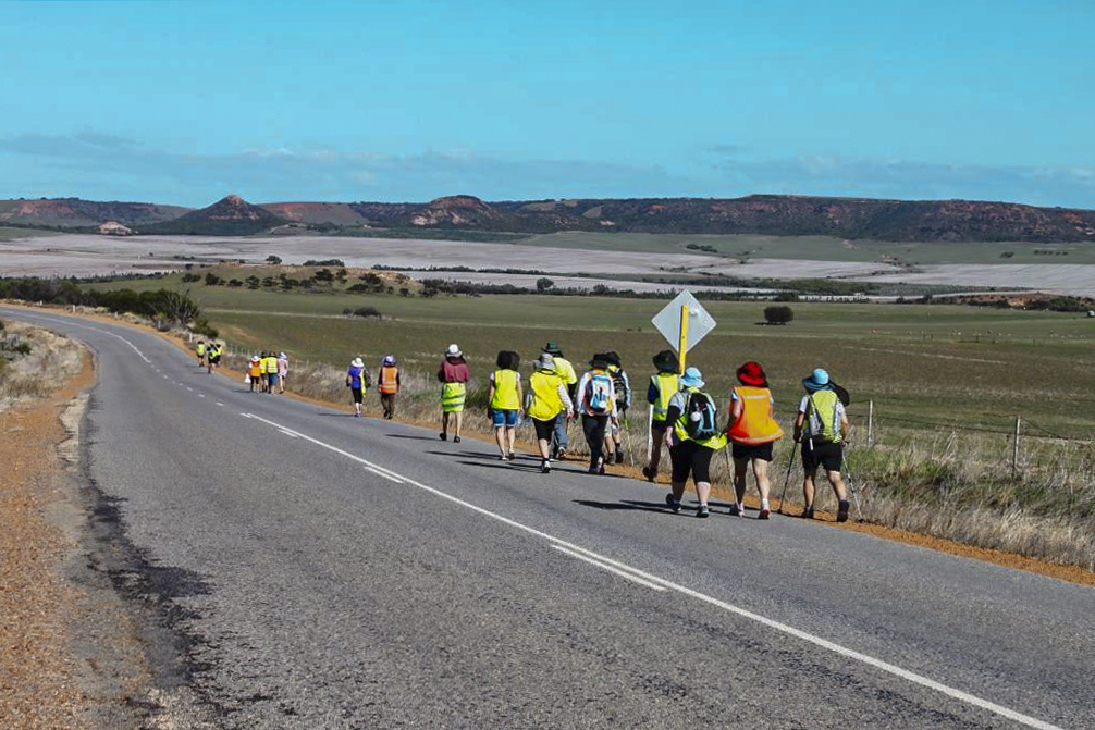 Pilgrims make their way down the Camino San Francisco, exploring both the natural and built heritage of WA. Photo: Supplied.