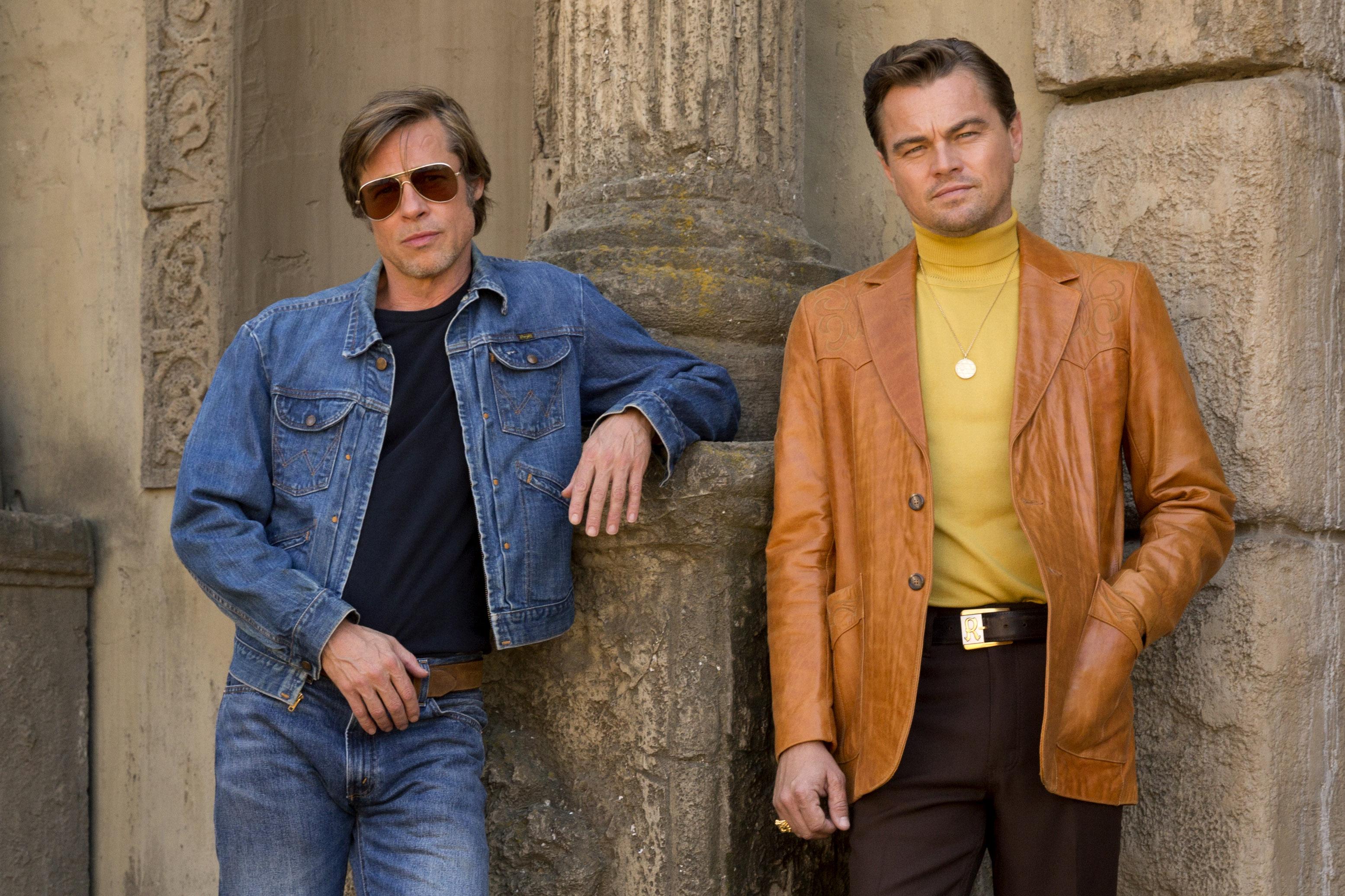 Brad Pitt and Leonardo DiCaprio star in