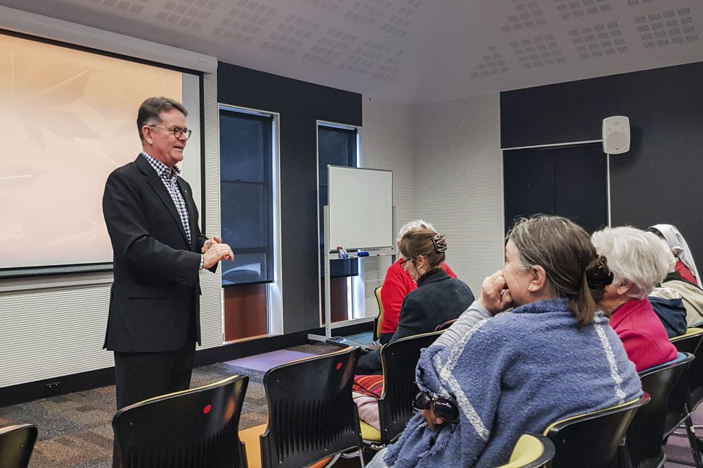 """Fr Leonard Leonard presents """"We need all the help we can get: a sane approach to Mary and the Saints"""" on Wednesday 14 August at Newman Siena Centre, Doubleview. Photo: Eric Martin."""