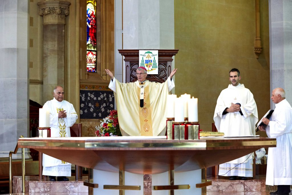 Archbishop Costelloe celebrated the Marriage Day Mass on 10 August at the St Mary's Cathedral. Photo: Ron Tan.