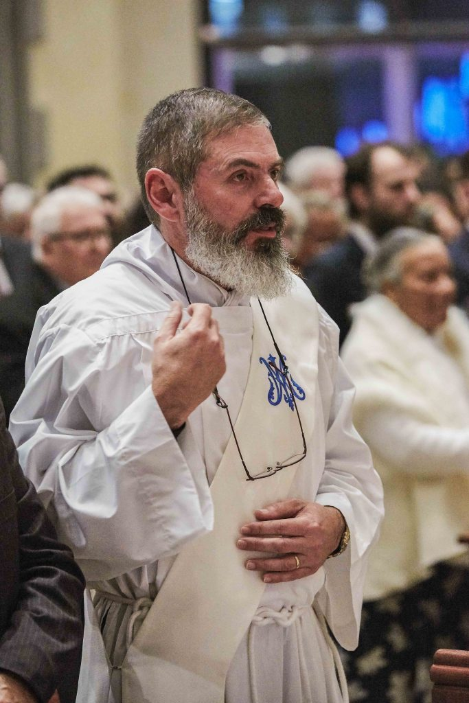 Father Mark Rucci at his priestly ordination on Friday 16 August 2019 at St Mary's Cathedral. Photo: Ron Tan.