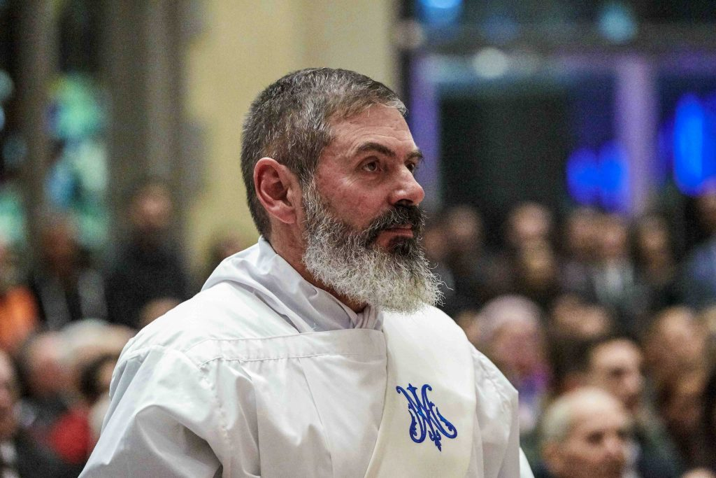 Fr Mark Rucci was ordained a priest at St Mary's Cathedral on Friday 16 August. Photo: Ron Tan.