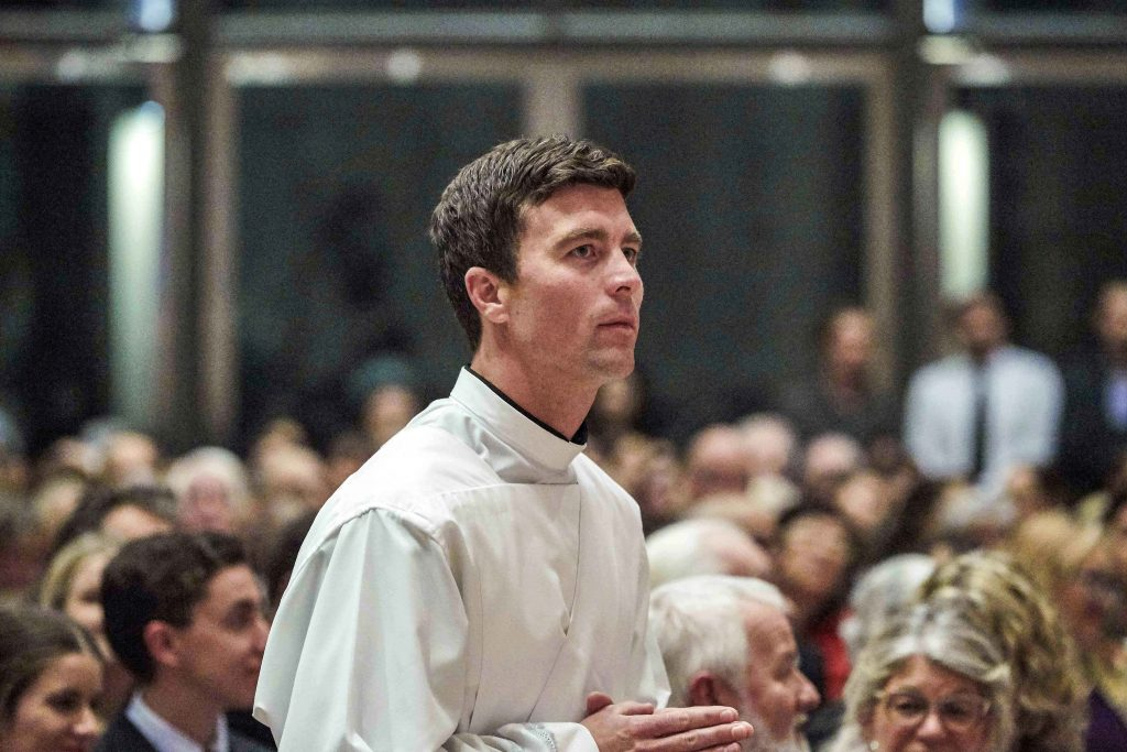 Fr Liam Ryan was ordained a priest at St Mary's Cathedral on Friday 16 August. Photo: Ron Tan.