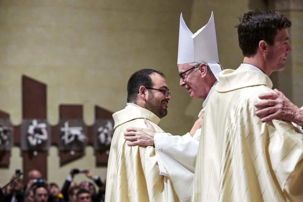 Fr Matteo Verdi was ordained a priest at St Mary's Cathedral on Friday 16 August. Photo: Ron Tan.