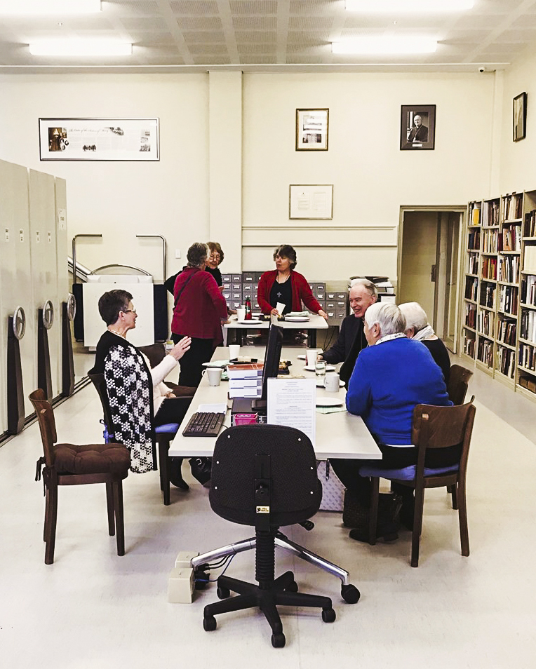Friends of the Archives gathered at the Catholic Archdiocese of Perth's Archives Office on the morning of 9 August. Photo: Supplied.