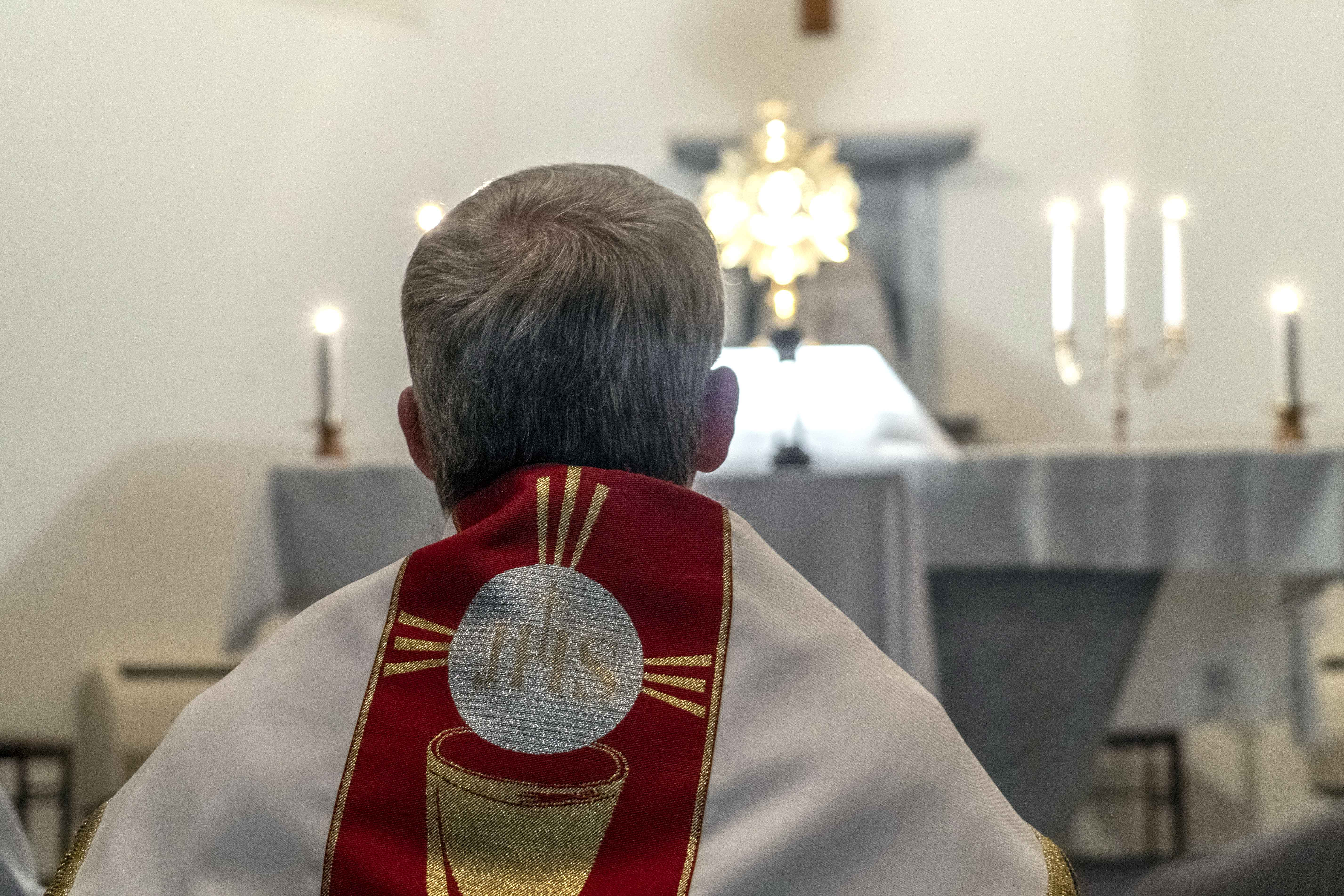 Archbishop Timothy Costelloe SDB led Eucharistic Adoration as part of National Vocations Awareness Week across Australia on 7 August. Photo: Josh Low.