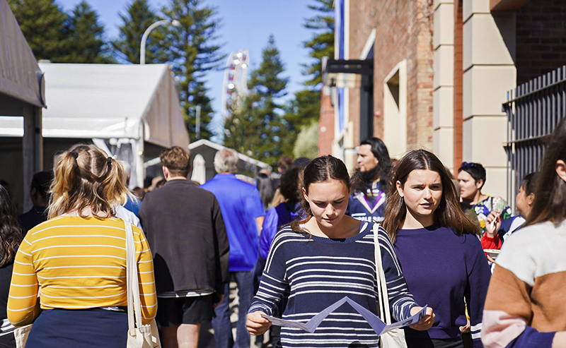 A record number of people packed The University of Notre Dame's Fremantle Campus on Sunday 11 August for the University's annual Open Day event. Photo: Supplied.