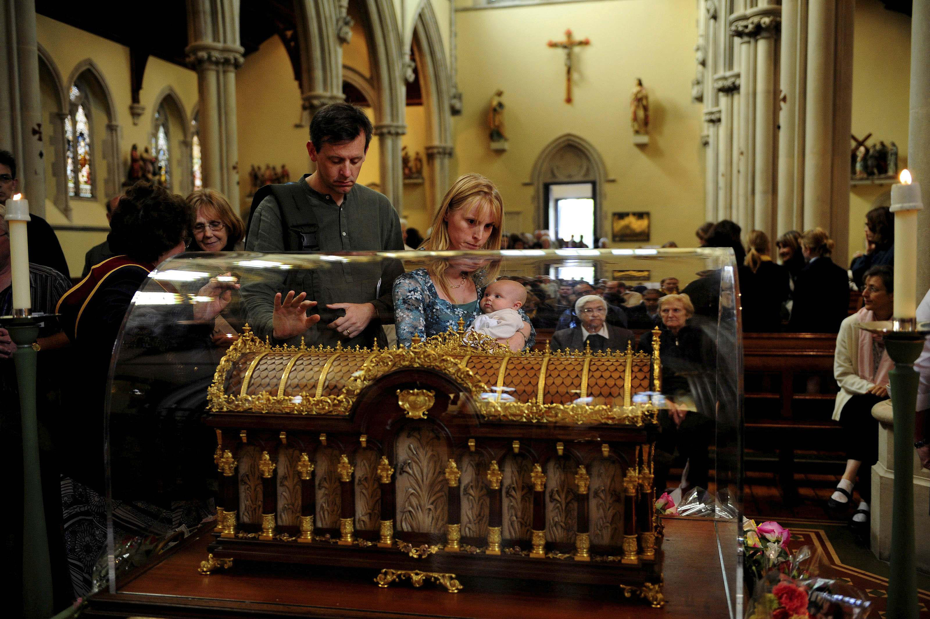 The relics of ST Therese will be accompanied by the relics of her parents, Sts Louie and Zelie Martin to Australia. Photo:CNS/Kieran Doherty.