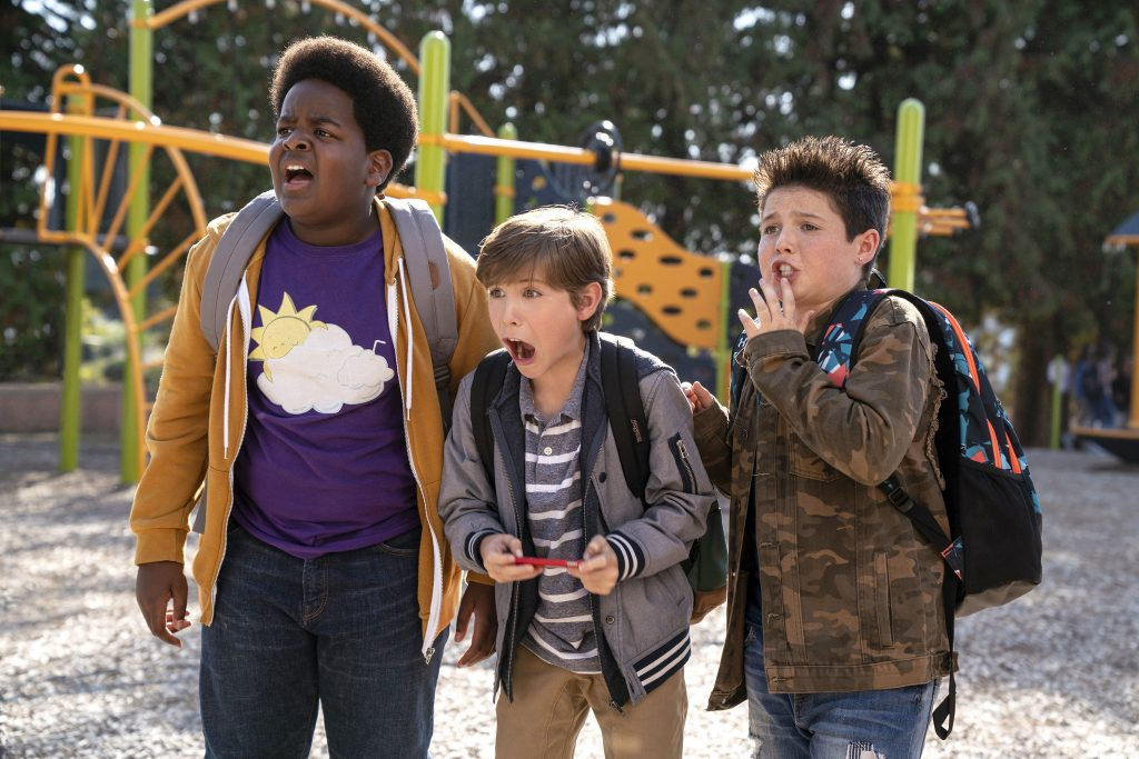 "Keith L Williams, Jacob Tremblay, and Brady Noon star in a scene from the movie in ""Good Boys"". Photo: Universal/CNS."