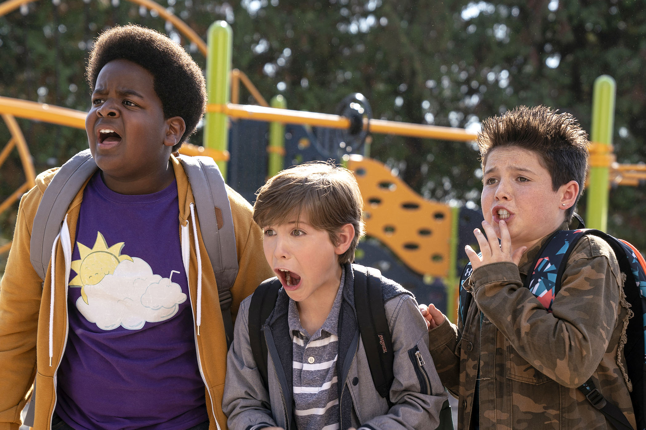 Keith L Williams, Jacob Tremblay, and Brady Noon star in a scene from the movie in