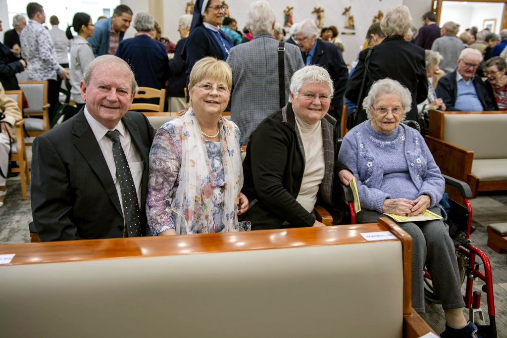 More than 300 guests filled the chapel to capacity to witness the dedication and consecration of the newly built chapel and altar, marking the completion of the rebuilding project and the official opening of the Glendalough Home. Photo: Eric Martin.