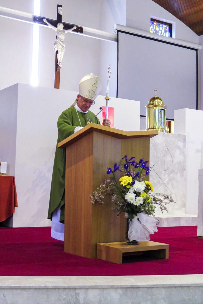 Archbishop Costelloe reflected on the Gospel for the day, saying each one of us must be ready to respond to God's will no matter the cost. Photo: Bridget Curran.
