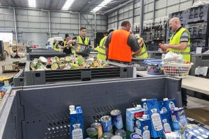 The St Vincent de Paul Society collects and distributes food supplies for vulnerable Australians during the Christmas Appeal. Photo: Supplied.