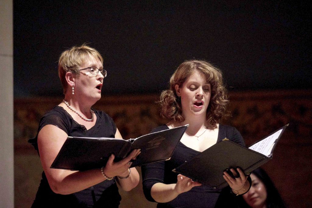 Soloists Emma Oorschot and Catherine Campbell led in the Ave Maria recital held at St Marys Cathedral on Sunday 8 September from 2:15pm. Photo: Jacinta Jakovcevic.