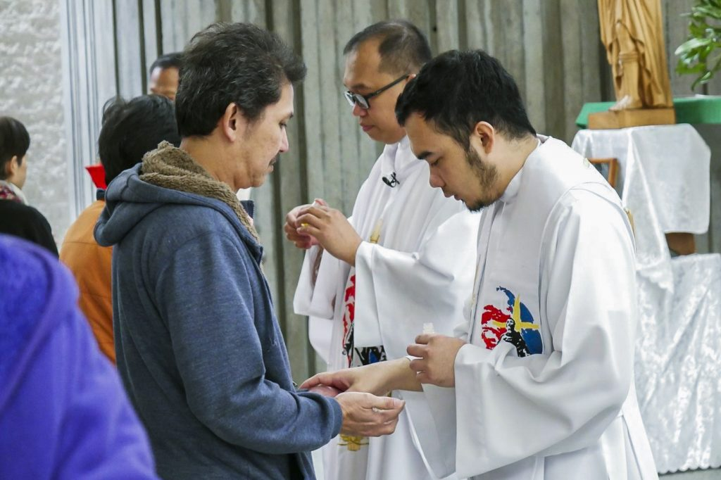 A key aspect of a St Peregrine Healing Mass is the Biblical practise of anointing the sick with oil. Photo: Supplied.