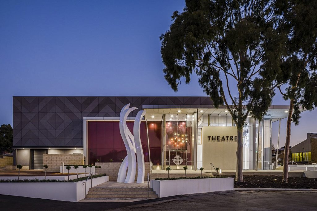 The recently-opened theatre of Corpus Christi College, Bateman. Photo: Supplied.