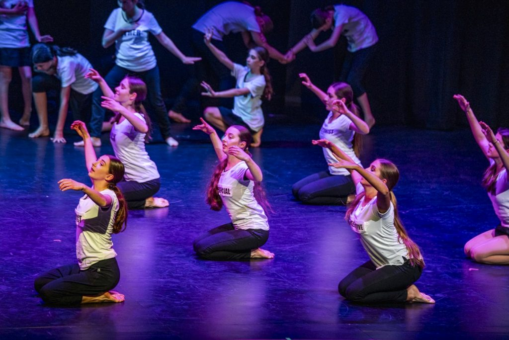 Students of Corpus Christi College showcase a performance art piece on 27 August 2019. Photo: Supplied.